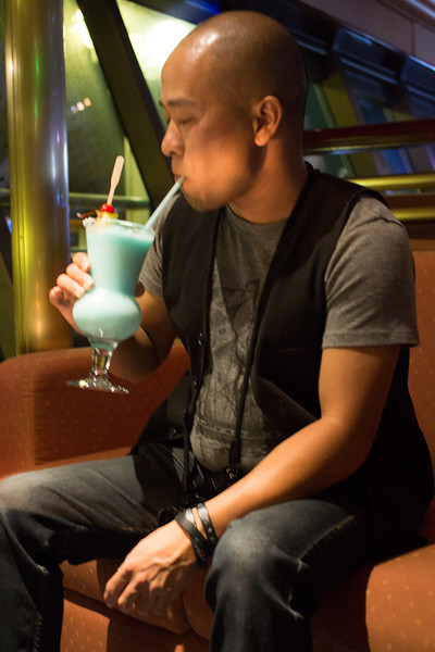 Rinzi and his cute drink
