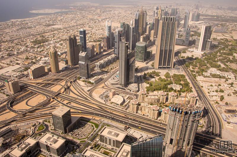 "View from ""At the Top"", half way up the Burj Khalifa"