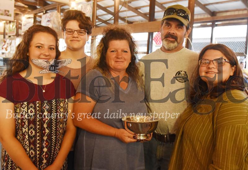 Harold Aughton/Butler Eagle: Left - right: Hannah, Faith,  Gerri, Bill and Hope Goldscheitter.