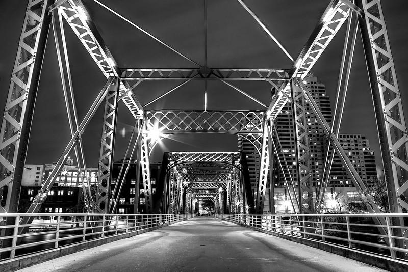 Blue Bridge in Black and White