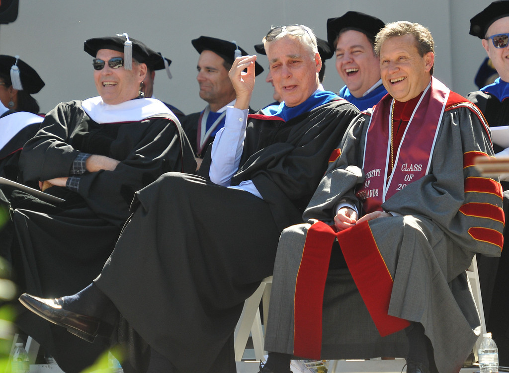 """. (John Valenzuela/Staff Photographer)  The 104th College of Arts & Sciences Commencement for the University of Redlands, Saturday, April 20, 2013. University of Redlands alumni, Marilyn Magness Carroll, class of 1975, delivered the Commencement speech, \"""" If You Can Dream It, You can Do It\""""."""