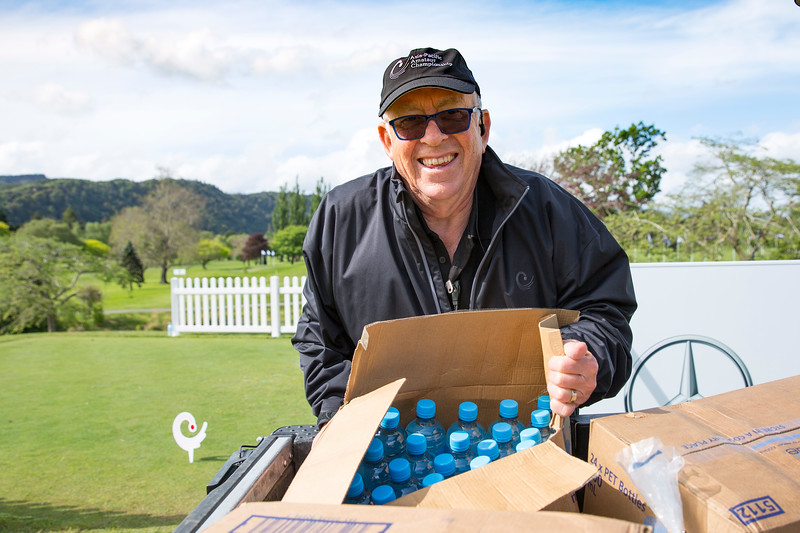 "Ian Patterson playing ""WaterBoy"" on the 1st day of competition in the Asia-Pacific Amateur Championship tournament 2017 held at Royal Wellington Golf Club, in Heretaunga, Upper Hutt, New Zealand from 26 - 29 October 2017. Copyright John Mathews 2017.   www.megasportmedia.co.nz"