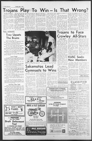 Daily Trojan, Vol. 58, No. 65, February 07, 1967