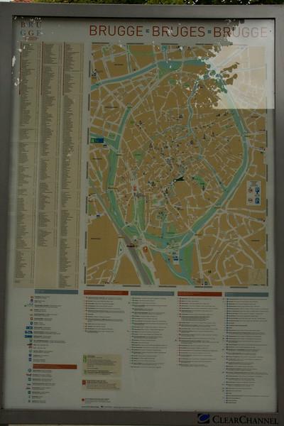 Bruges. City map.