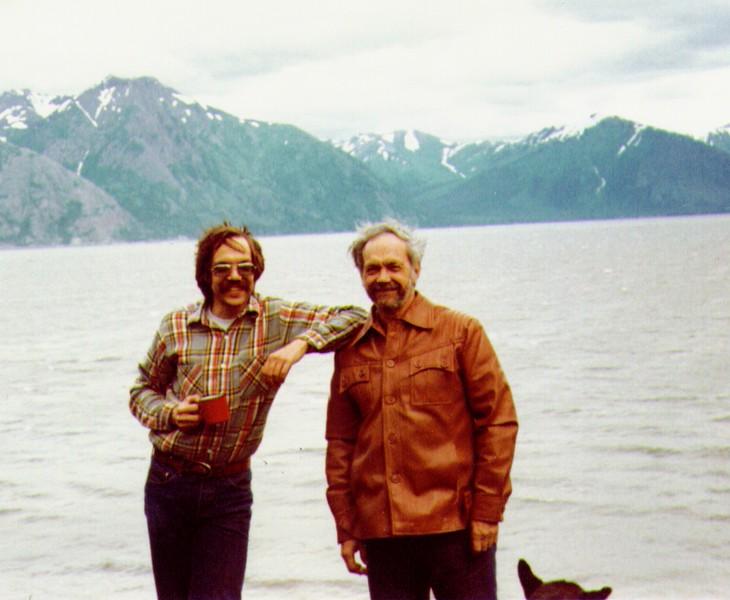Dave, Wayne at Turnagain Arm nr. Hope Alaska, July 1980 - Copy.jpg