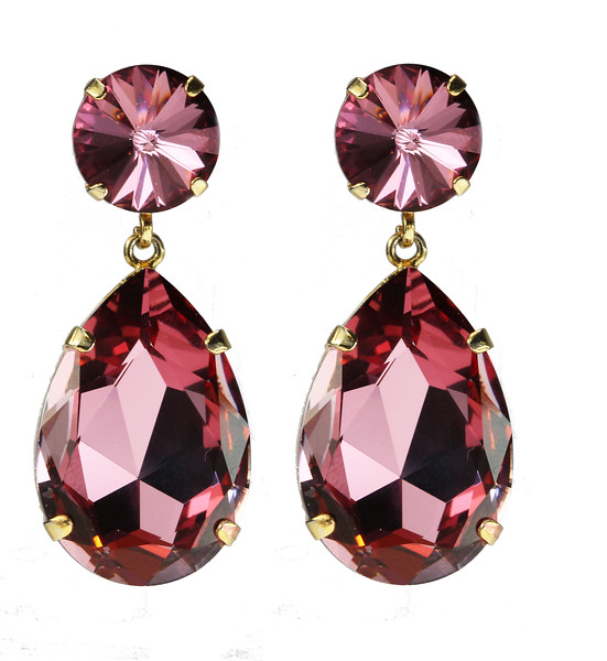Perfect Drop Earrings / Antique Pink