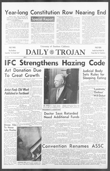 Daily Trojan, Vol. 56, No. 81, March 11, 1965