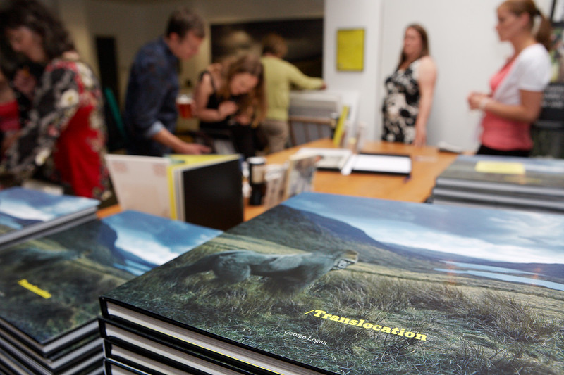 Private view and book launch of 'Translocation' by George Logan in support of the Born Free Foundation.