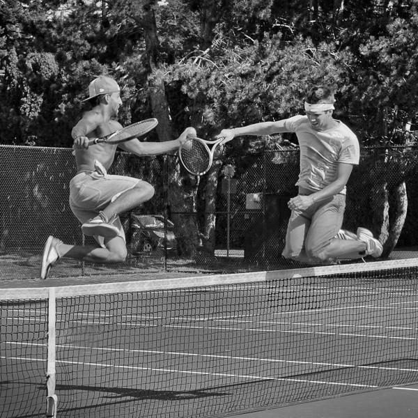 Tennis Match Changing Sides! 11