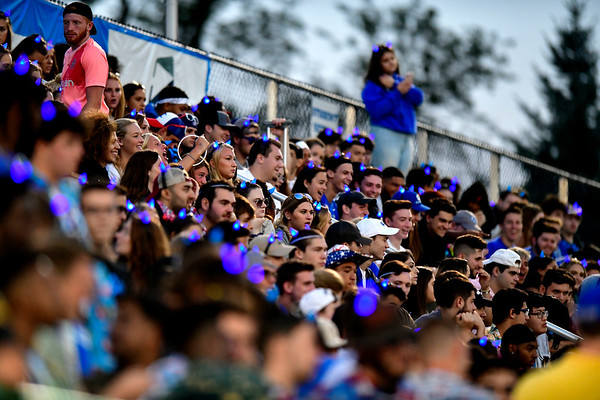 9/72019 Mike Orazzi | StaffrCCSU students in the student section against Merrimack College in New Britain on Saturday night.