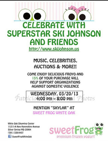 Superstar Ski Johnson and Sweet Frog White Oak Support Organizations Against Domestic Violence