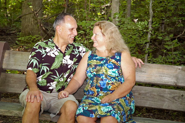 Tim & Susie At Charleston Falls By Rose