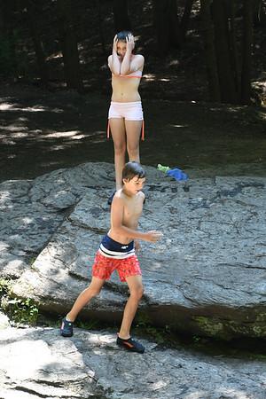Swimming at Bellevue Falls - 062220