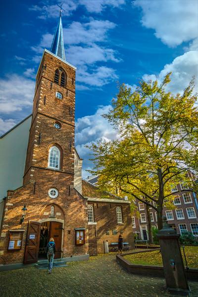 Quiet life scene around the English Reformed Church.
