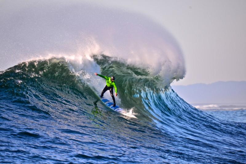 Big Wave World Record Holder Shawn Dollar at Mavericks.