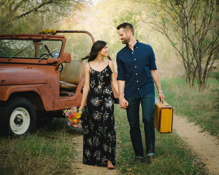 Jordan and Christines Engagement Session At The Outlaw Station In Glen Rose Texas