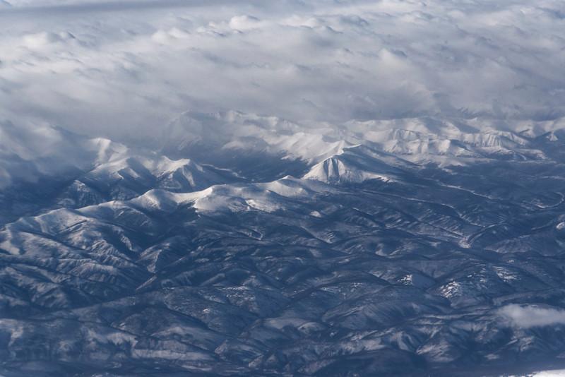 East Siberian winter landscape
