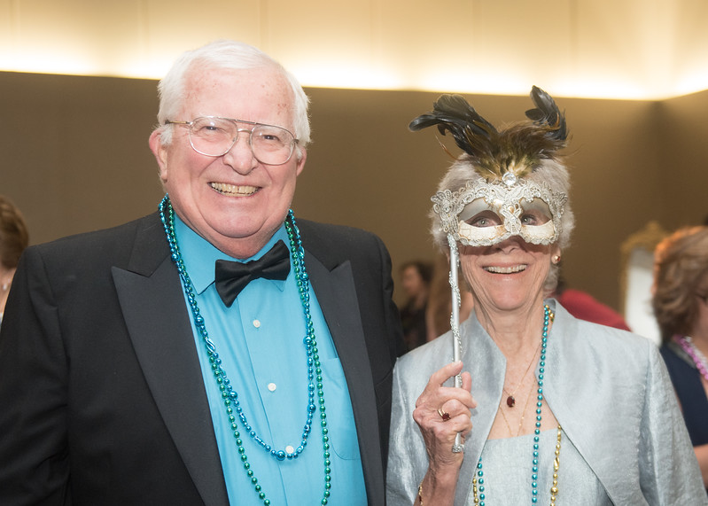 Richard and Mary Ann Davis. Saturday February 25, 2017 at TAMU-CC during the annual President's Mardi Gras Ball.