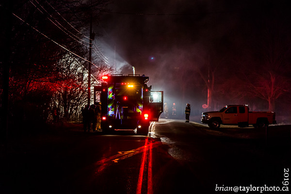 Structure Fire, Gaspereau River Road, Monday, April 8, 2019