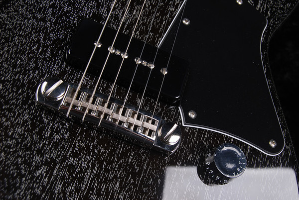 ElectraJet Special, Black with White Grainfill, G-90 Pickups
