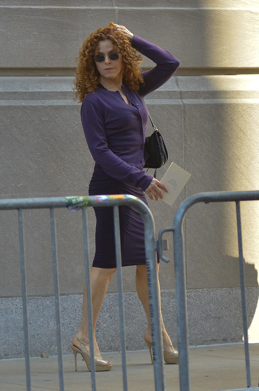. Bernadette Peters attends the Joan Rivers memorial service at Temple Emanu-El on September 7, 2014 in New York City. (Photo by Kris Connor/Getty Images)