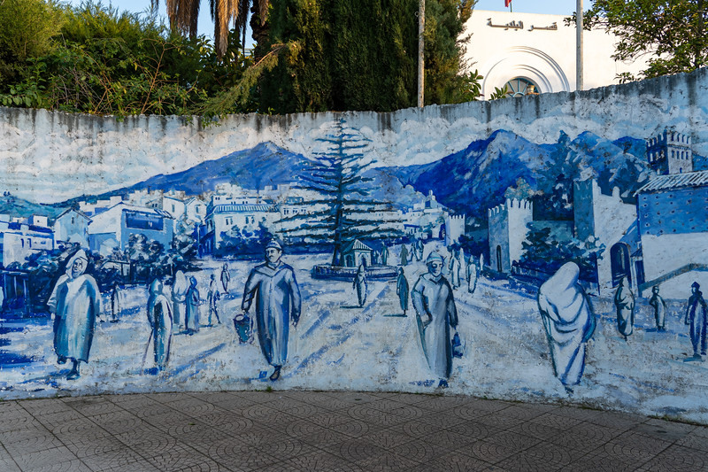 Mural in Chefchaouen, Morocco