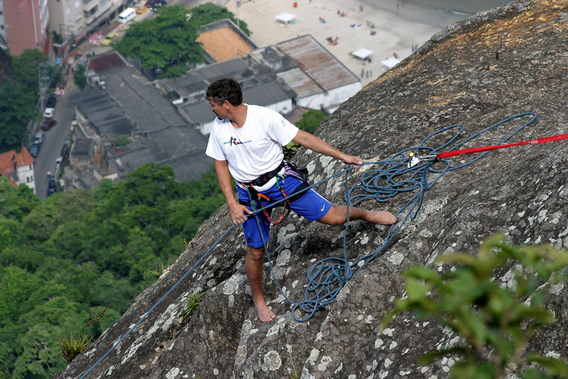 Rock climber on Sugar Loaf.