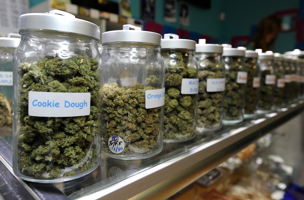 . A wide variety of medical marijuana is available at Green Kiss Collective on Vineland Avenue in North Holywood, CA 5/23/2013(John McCoy/L.A. Daily News)