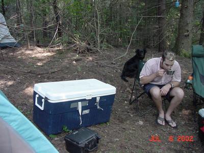Nic & Dad Camping - 2002