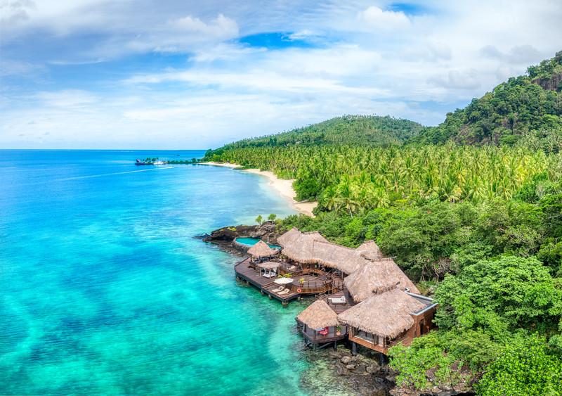 Over Laucala Island
