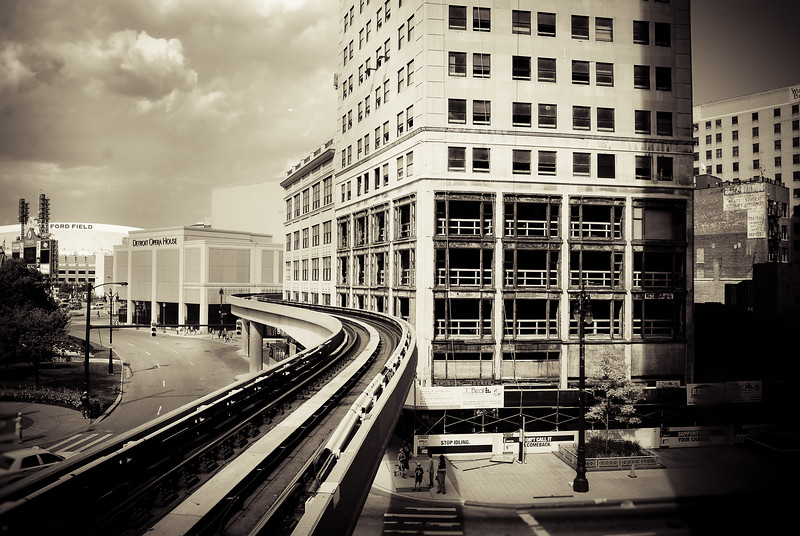 Detroit 2 people mover abandoned building michigan lilacpop sepia tracks.jpg