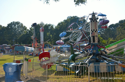 Carnival rides & Bouncy things - 2014 Matthews Alive Festival