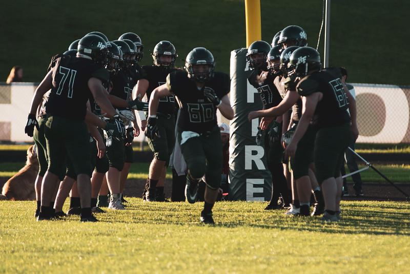 Holy Family Varsity Football vs. Mound Westonka, 8/29/19: Logan Radick '20 (60)