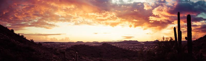 Dramatic Desert Sunset Panorama