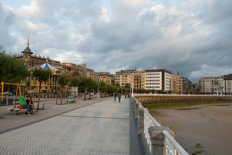 San Sebastian beach promenade