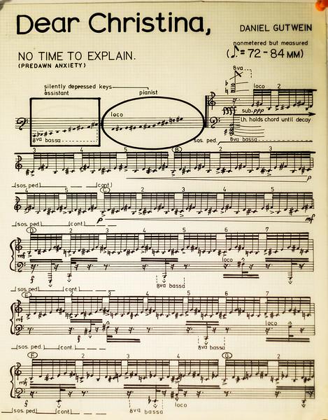 1980 Dear Christina Musical Score