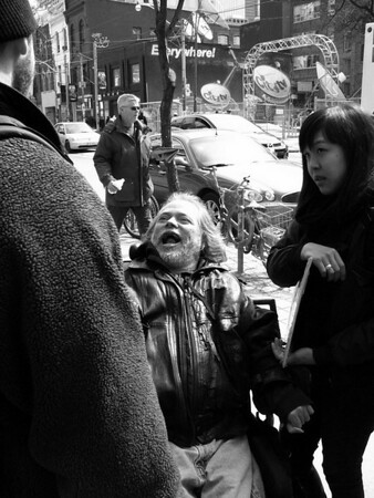 Disability Rights Activists picket Queen Street restaurant