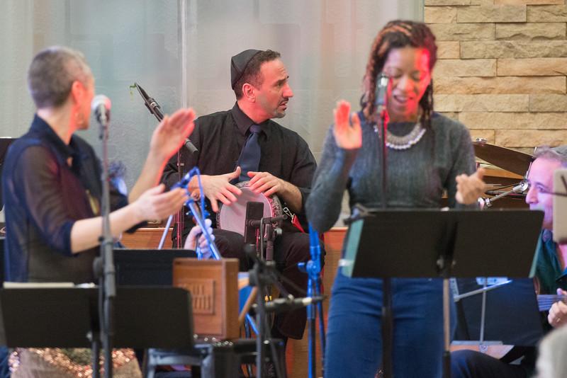 Philadelphia's EZUZ with Jessi Roemer perform at Beth El, April 19, 2015