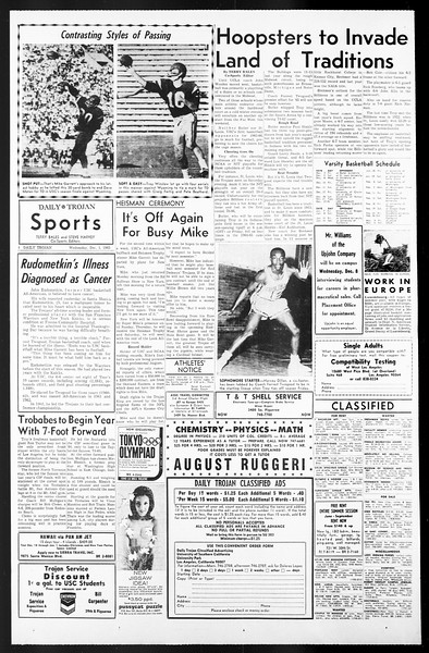 Daily Trojan, Vol. 57, No. 49, December 01, 1965