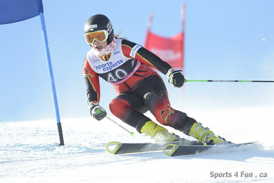 Giant Slalom, Ladies CAN - QC - MONT-SAINTE-ANNE 1/27/2013