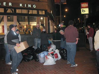 Awakening Dec 09 San Franscisco Homeless Clothes & Food handouts