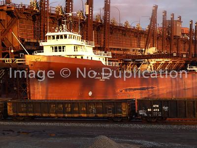 TREGURTHA, LEE A., September 27, 2010.  CN (former DM&IR) Dock, Duluth MN.