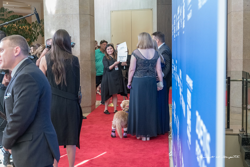 Chi Chi enters the Red Carpet with introductory signs