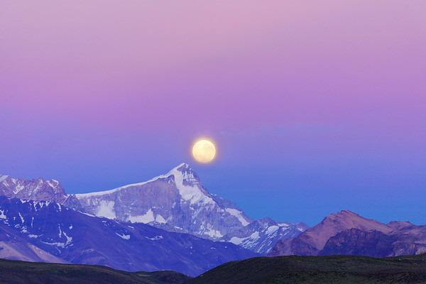 Estancia Menelik - Coucher de Lune sur le San Lorenzo