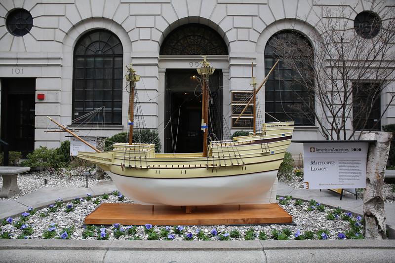 The Boston Mayflower on Display
