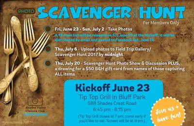 Scavenger Hunt 6-2017