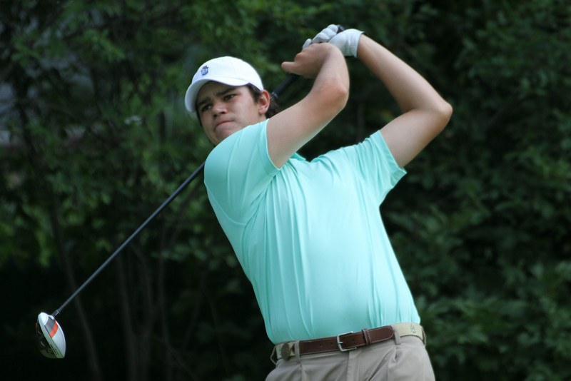 Beau Hossler of Mission Viejo, California tees off during the second round of the 2014 Western Amateur.