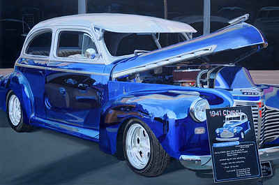 """1941 Chevy"" (acrylic) by Linda McCord"