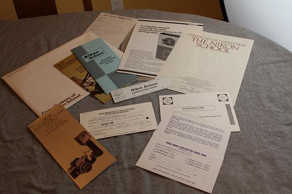 Classic Nikon School Paperwork