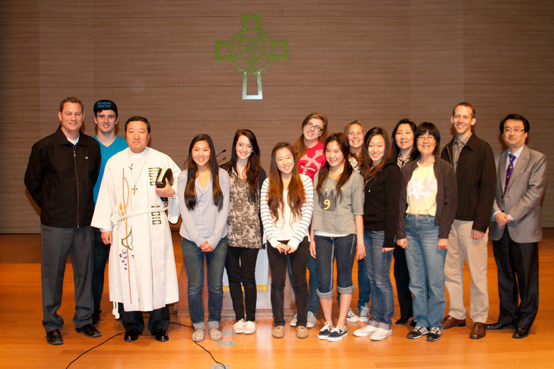 Group picture at Lutheran University